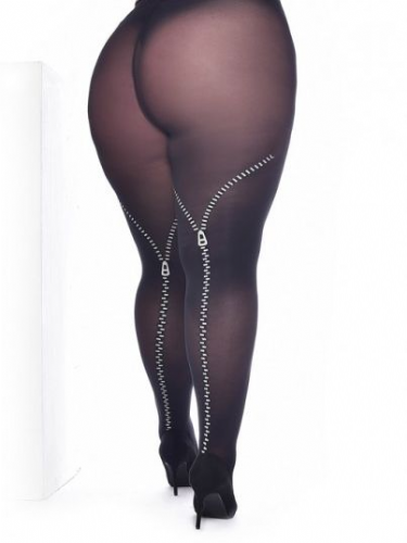 Curvy Super Stretch Tights with Zips